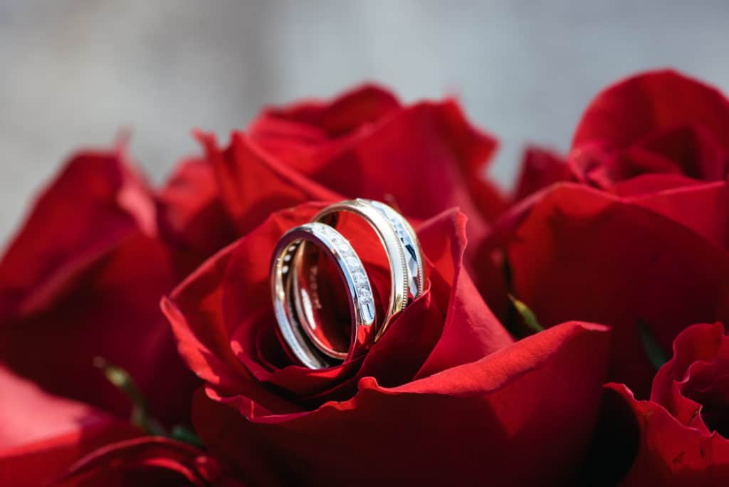 Wedding rings, wedding photography prices,red roses, bouquet, special