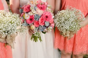 Floral, pink, champagne, blue and pinks, wedding