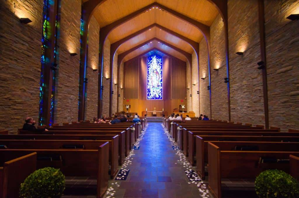Church, stained glass, wedding venue, Tulsa wedding