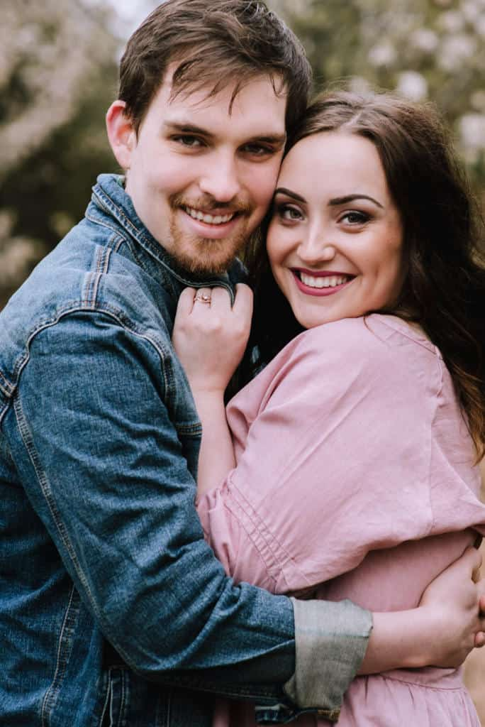 Broken Arrow, Engaged, Engagement session, dogwood trees, oklahoma