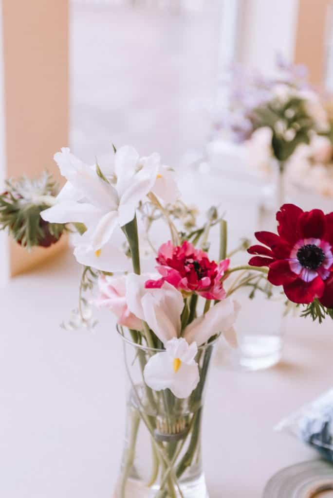 Oklahoma Wedding Florist, florist, floral, wedding design, boho, peonies, table setting, wedding photography, Broken Arrow photographers, Claremore florist, Bride, groom, bright and airy, outdoor, macrame, wedding rentals
