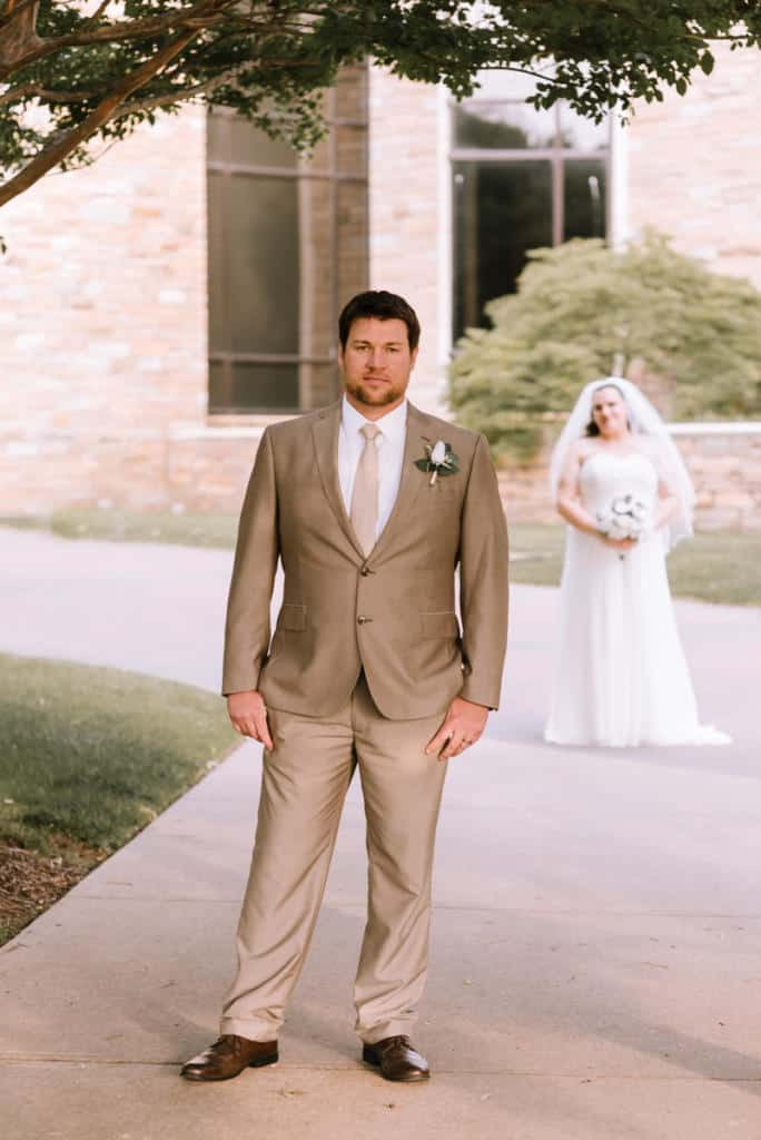 First looks, wedding day